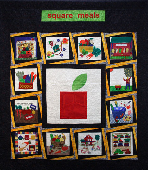 Healthy Foods for Healthy Kids quilt
