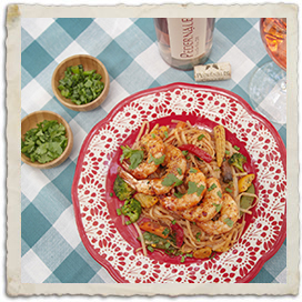 Bali BBQ Shrimp with Noodles