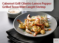 Cabernet Grill Cilantro Lemon Pepper Grilled Texas Wild Caught Shrimp