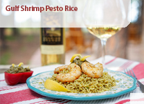 Gulf Shrimp Pesto Rice