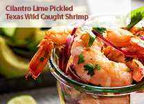 Cilantro Lime Pickled Texas Wild Caught Shrimp