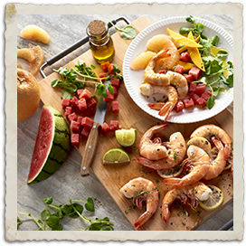 Texas Shrimp Summer Salad with Three Citrus Vinaigrette