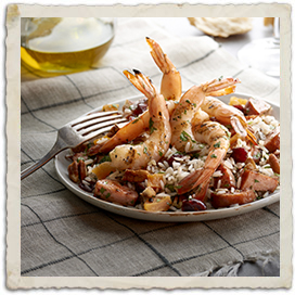 Rosemary Garlic Grilled Texas Wild Caught Shrimp & Andouille Sausage